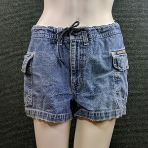 Abercrombie & Fitch Drawstring Jean Shorts